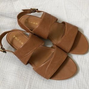 Never worn Trask leather women's sandals size 9.5